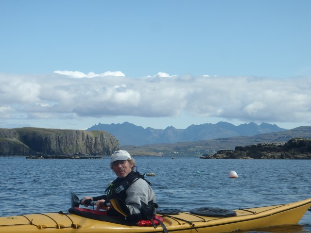 Loch Bracadale, Justin and the Cuillins 24 August 2014