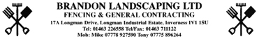 Brandon Landscaping Ltd, 17A Longman Drive, Inverness